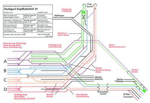 Optimierter Gleisplan beim Kopfbahnhof 21.